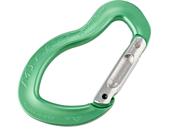AustriAlpin Micro Straight Snapgate Carabiner green anodized